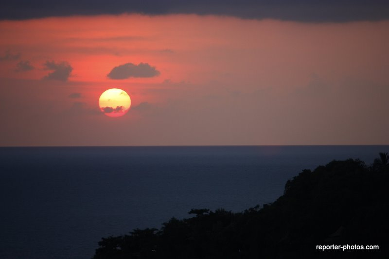 coucher de soleil à Koh Toa